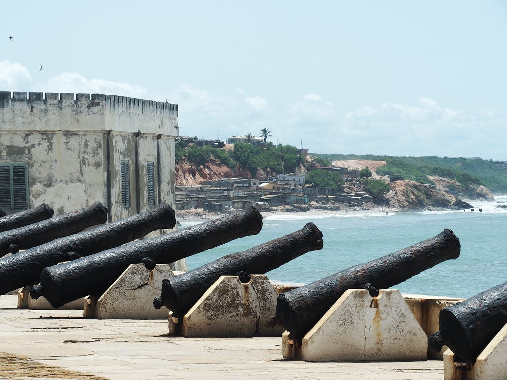 Cannons in Cape Coast Castle, Ghana