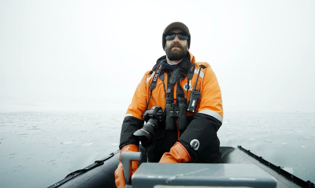 Luke Kenny, one of Silversea's expedition leaders