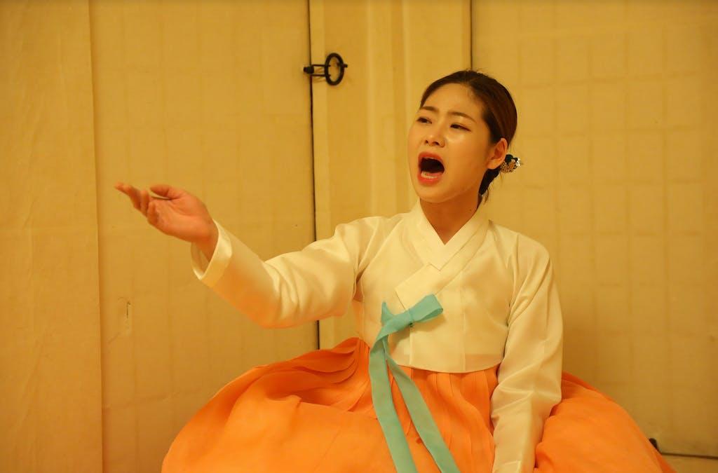 Pansori singer in South Korea
