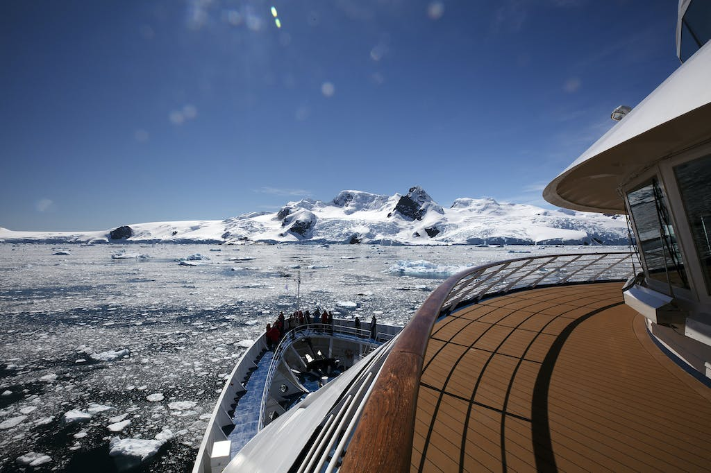 Guests admire the beauty of Antarctica