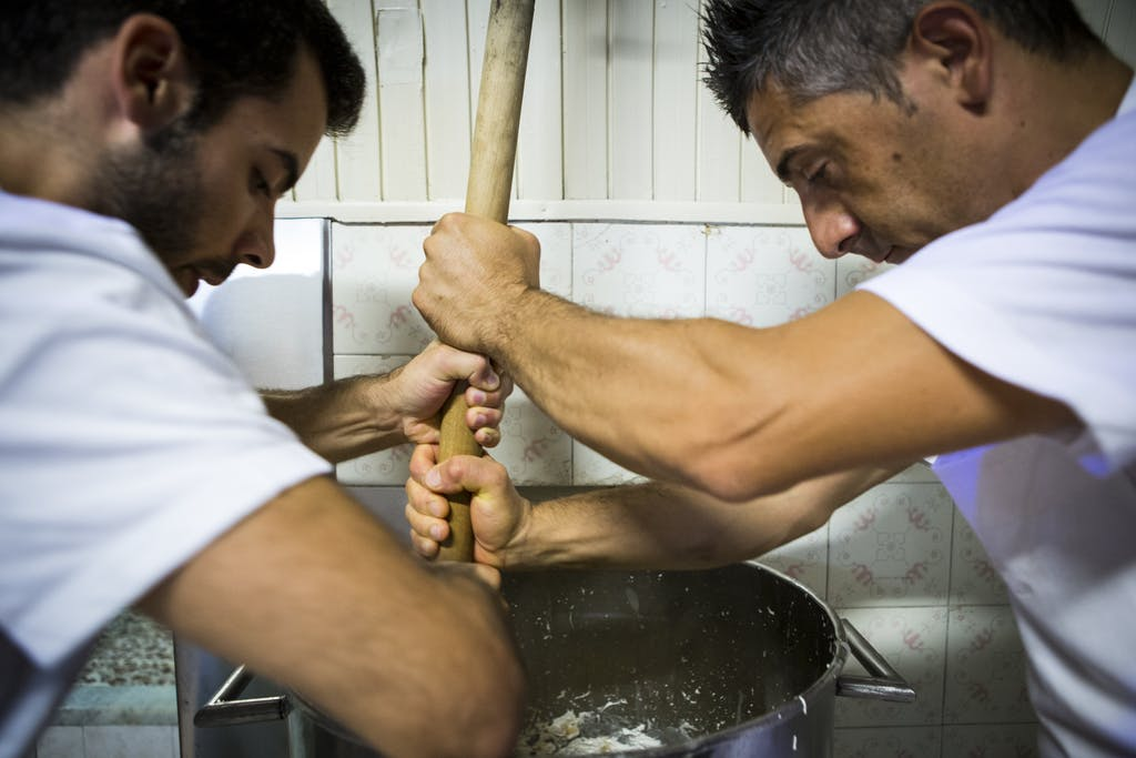 Caffè Sicilia's almond nougat is handmade