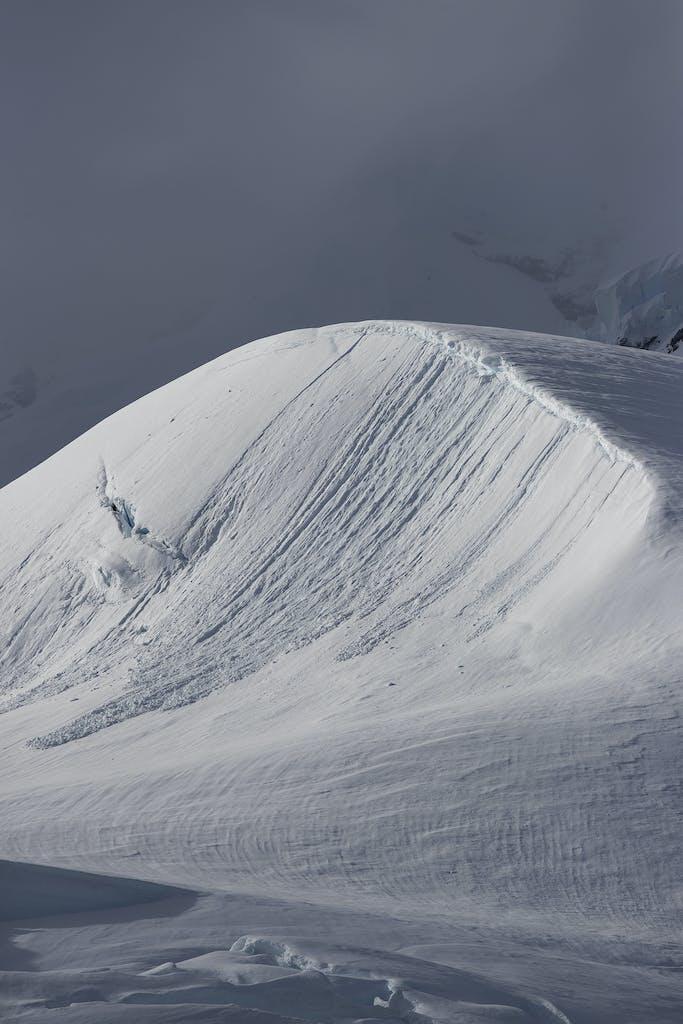 Snowy landscapes of Antarctica