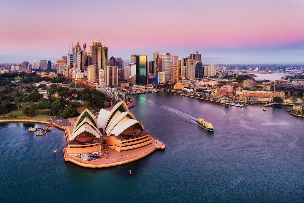 Sunrise over Sydney, Australia