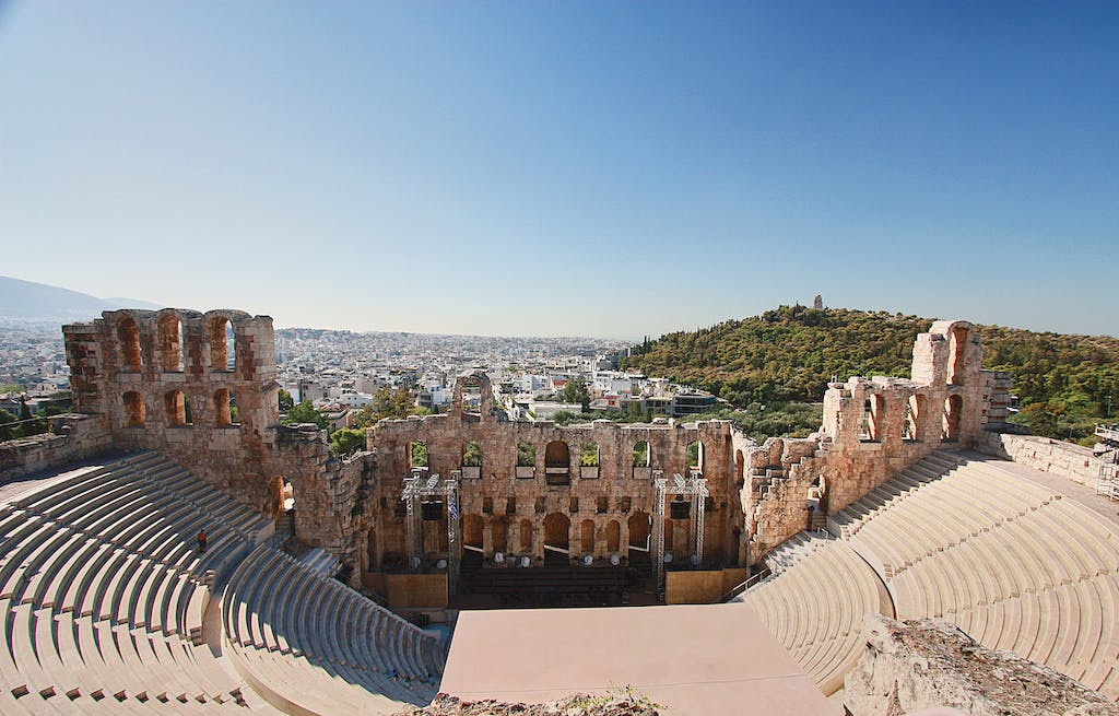 The Odeon of Herodes Atticus theater in Athens