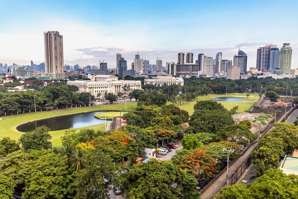Manila cityscape from Intramuros