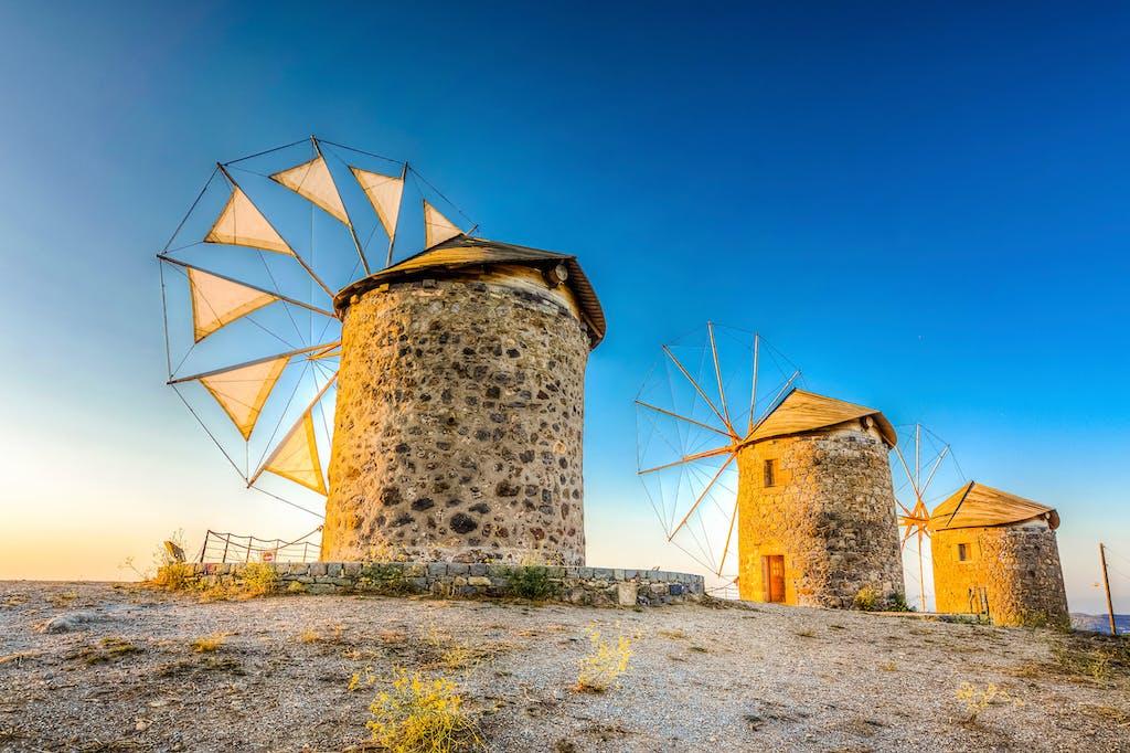 Windmills of Chora, Patmos.