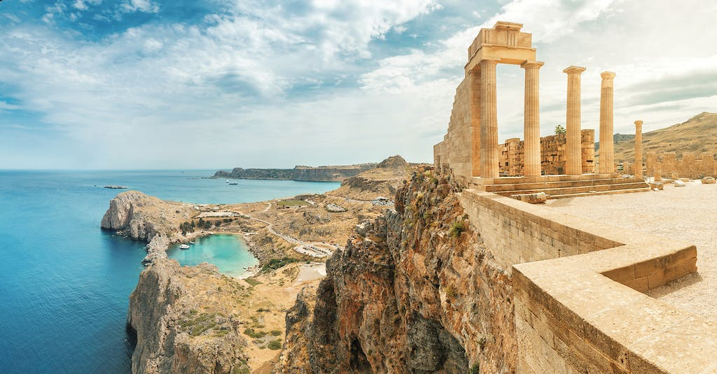 The Acropolis of Lindos in Rhodes
