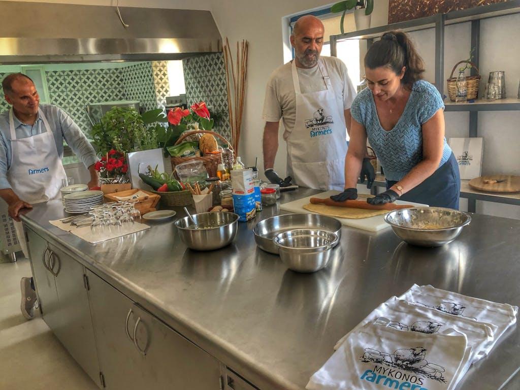 Cheesemaking in Mykonos