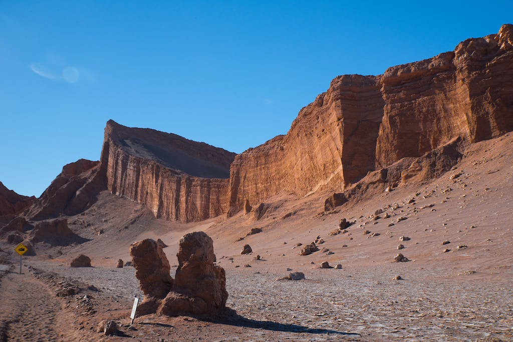 Atacama desert landscapes near Antofagasta, Chile.