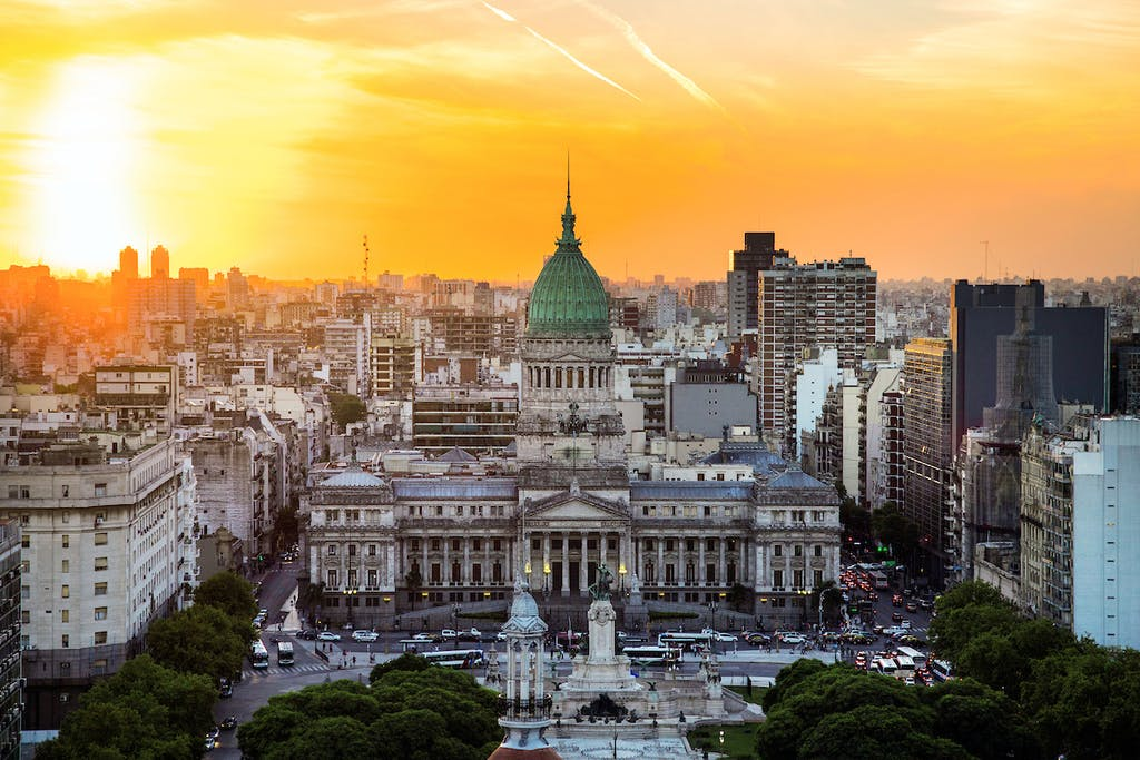 Argentina's National Congress Building in Buenos Aires.