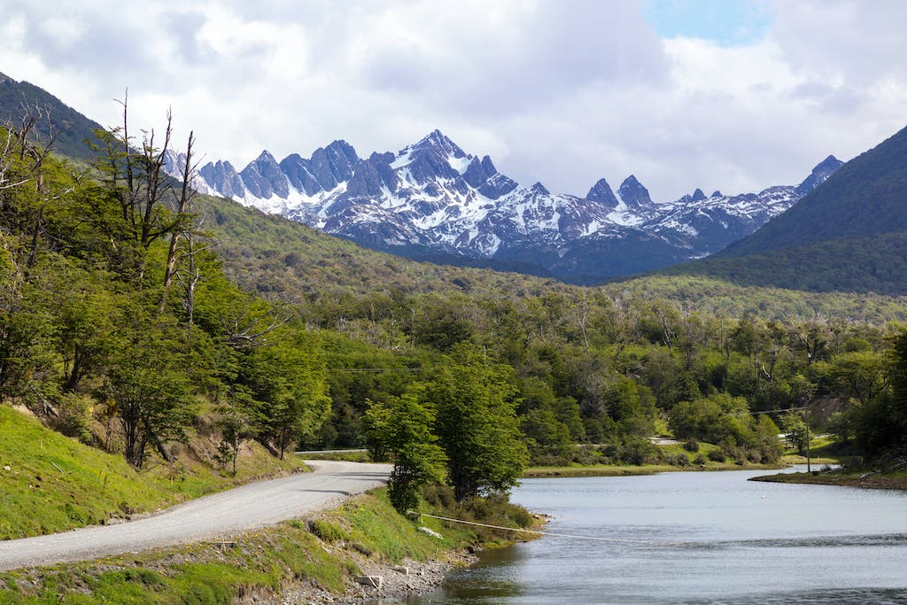 Teeth of Navarino mountains in southern Chile.