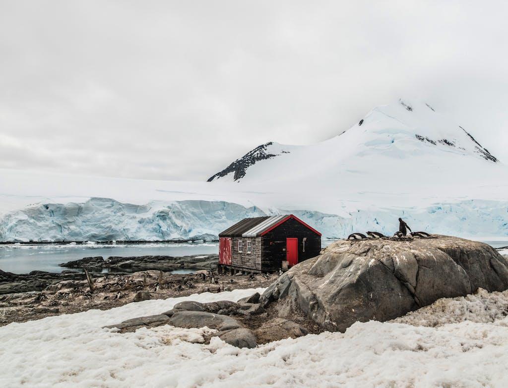 Landscape in Port Lockroy, Antarctica.